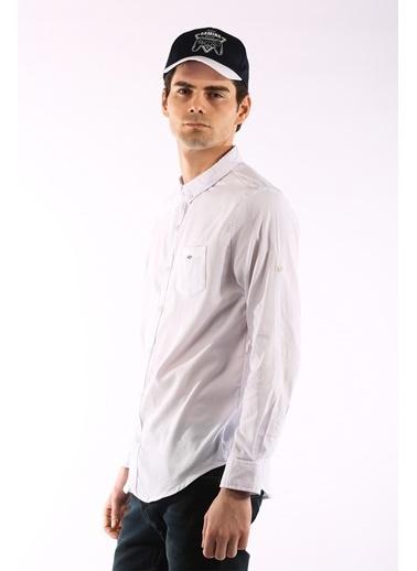 Rodrigo 1456 Cepli Lıkralı Erkek Gömlek Beyaz